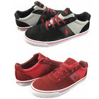 Polo Ralph Lauren Mens Hanford Black Red Casual Lace Up Sneakers Shoes Kicks