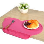 Safe Silicone Placemat Plate Dish Food Tray Table Mat for Kids Baby Toddler