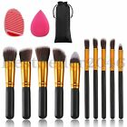Внешний вид - 10pcs Makeup Brushes Set with Blender Sponge and Brush Egg Cosmetics Kit Tool