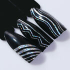 Holographic Nail 3D Nail Stickers Foils Laser Wave Line Stripe Tape Decals Tips günstig