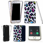Shockproof 360° Silicone Clear Case Cover For many mobiles - animal wild print.