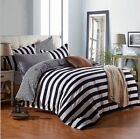 White And Black Stripes Bedding Quilt Cover Duvet Cover Set Twin Queen King Size