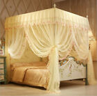 Princess Flowers Bed Canopy Mosquito Netting Or Frame Post Twin Full Queen King