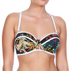 Freya Swimwear Club Tropicana Underwired Bandeau Padded Bikini Top Multi 3984