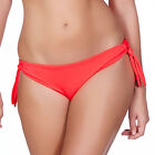 Freya Deco Swim Tie Side Bikini Brief/Bottoms Insanely Red 3805 NEW