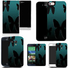 art case cover for many Mobile phones - black butterfly silouette silicone