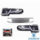 FIT For 2007-15 Toyota FJ Cruiser LED Halo Projctor Headlight (Including Grille)