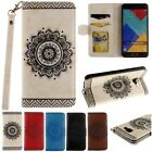Leather Flip Stand Lanyard Pattern Card Case Cover For Samsung A310 A510