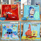 Kids Cute Carton Stitch Soft Warm Coral Fleece Sofa Bed Throw Blanket Rug Plush