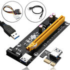 USB 3.0 Pcie PCI-E Express 1x -16x Extender Riser Card Adapter Power BTC Cable a