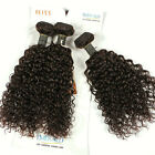 3 Bundles Bliss Virgin Mongolia Kinky Curly Human Hair Weft Natural Emerald 7A