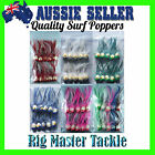 Quality Surf Popper Red White/Silver Green Blue Pink Mixed Fishing Lure 10-Packs