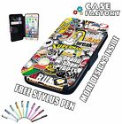 JDM Drift Turbo VAG DUB Sticker Bomb - Leather Flip Wallet Phone Case Cover