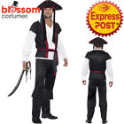 CA271 Mens Aye Aye Pirate Caribbean Captain High Seas Costume Fancy Dress Outfit
