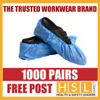 1000 PAIRS x DISPOSABLE OVERSHOES, WATERPROOF SHOE COVERS PROTECTORS BLUE CE