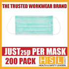200pcs DISPOSABLE SURGICAL FACE SALON DUST CLEANING Ear Loop Flu MASK CE