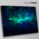 AB363 trippy blue space galaxy Abstract Canvas Wall Art Framed Picture Print