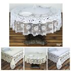 Внешний вид - 0.6 mil Thick Lace Vinyl Eco-Friendly Round Tablecloth Protector Cover