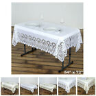 Внешний вид - 0.6 mil Thick Lace Vinyl Eco-Friendly Tablecloth Protector Cover For Weddings