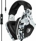 USB Gaming Headset-SADES A60/OMG Computer Over Ear Stereo Heaphones With Microph