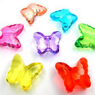 18mm ACRYLIC FACETED BUTTERFLY BEADS - VARIOUS COLOURS -  B045