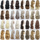 blonde to strawberry blonde hair - Long Natural Layered Half Head Wig 3/4 Weave Hair Fall Synthetic Half Wig Fall