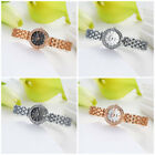 Wholesale Women Lady Hot Gold Silver White Black Alloy Crystal Watch Wristwatch
