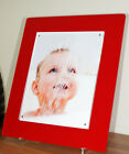 "Perspex acrylic gloss magnetic desk photo picture frame for a 10x8"" all colour"