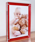 "Acrylic 20mm desk block picture photo frame for 7x5"" foto all colours available"