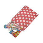 Red Polka Dot Spot Sweet Party Wedding Popcorn Gift Paper Bags - 2 Sizes