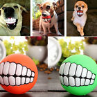 Pet Dog Ball Teeth Silicone Toy Chew Squeaker Squeaky Sound Dog Puppy Play Toy A