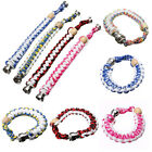 Colorful Fashion Pipe Beaded Weave Rope Clasp Strands Bracelet Gift