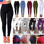 Women High Waisted Skinny Slim Pencil Pant Stretch Jeans Ripped Trousers Jegging