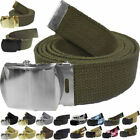 Внешний вид - Military Web Belt Cotton Canvas Adjustable Camo Army Tactical Skater Webbed
