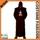 New Deluxe Mens Black Monk Friar Tuck Priest Fancy Dress Costume All Sizes
