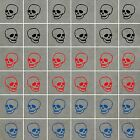 SKULL Stickers Waterproof, ideal for Walls, Tiles, Glass, Ceramics, Wood, Cars