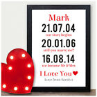 Our Love Story Personalised Romantic Gift Birthday Him Husband Boyfriend For Him