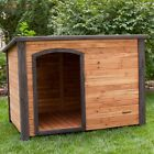 Cabin Dog House Outback Log Wood Pet Outdoor Shelter Weather Resistant Home New