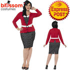 CA285 Curves 50s Pin Up Costume Dress Up Rock And Roll Polka Dot Vintage Retro