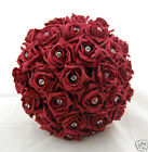 BRIDES  DIAMANTE WEDDING BOUQUET FLOWERS POSY - MANY COLOURS