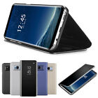 Case for Samsung Galaxy Note8 S8 Plus Clear View Mirror Leather Flip Stand Cover