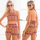 Women Swimwear Bandage Bikini Set Push-up Padded Bra Bathing Suit Swimsuit TXWD