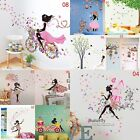 girly girl rooms - DIY Lovely Girl Art Wall Stickers For Kids Rooms PVC Wall Decals Home Decor