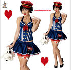 Betty Boop Sailor Costume Navy Pin-up Girl Retro Womens Adult Corset Skirt Hat $33.03 USD on eBay