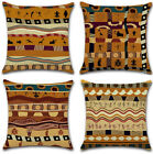 Vintage African Ethnic Style Cotton Linen Pillow Case Throw Cushion Cover 18""