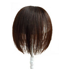 7x11cm Mono & PU 100% Human Hair Topper Long Hairpiece Top Piece For Women