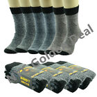 12 Pairs Men Heavy Duty Winter Warm Thermal Crew Work BOOTS Socks Size 9-13