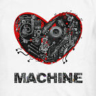 Love Machine | Funny Mens Guys Tees | Novelty humour gift | Slim Fit Grey