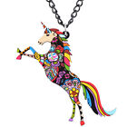 Bonsny Unicorn Necklace Jewellery Horse Charm Pendant Fantasy Fun Women Children
