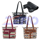 VISM Leather Concealed Carry Gun Purse CCW Printed Tote Bag Holster Handbag